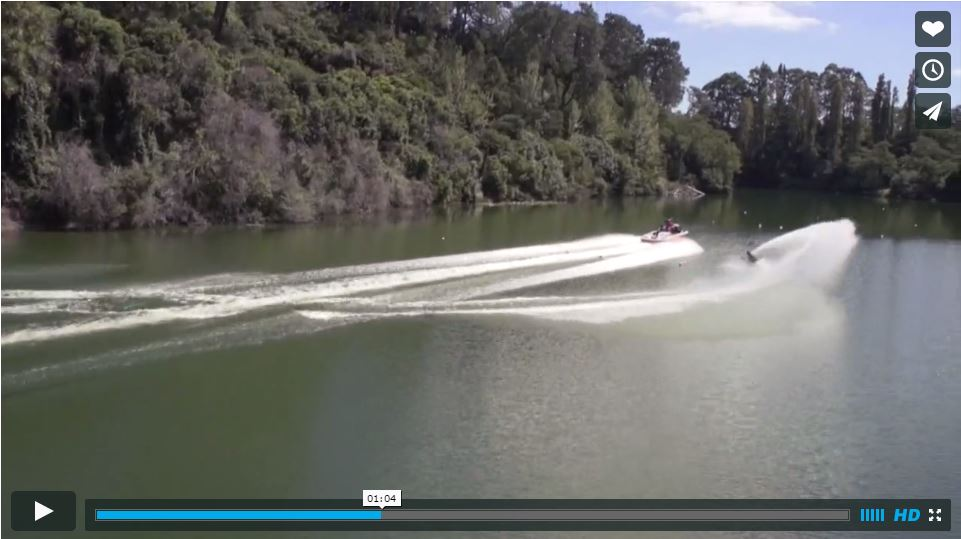 Aaron Larkin Slalom Skiing Karapiro Backwater